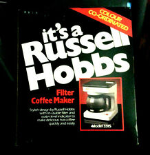 New Russel Hobbs Filter coffee Maker Model #3315