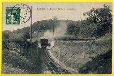 cpa LANGRES (Hte Marne) CHEMIN de FER à CRÉMAILLÈRE Train Locomotive Funiculaire