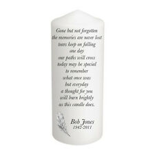 Personalised In Loving Memory Remembrance Absence Candle Gift Keepsake Large