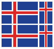4 x islandaise iceland flag vinyle voiture van ipad laptop sticker