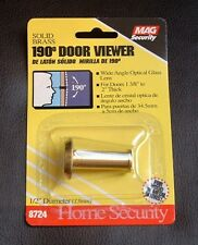 MAG Security 190 Degree Extra Wide Angle Door Viewer -- 8724 Solid Brass -- NEW!