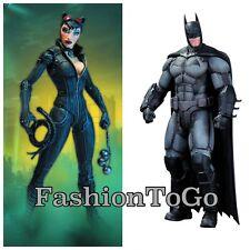 BATMAN ARKHAM ORIGINS SER 1 BATMAN & SER 2 CATWOMAN AF ACTION FIGURE DC COMICS