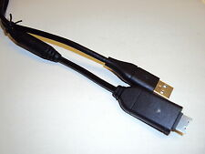 USB Cable + UK or EU AC Charger For Samsung PL20 PL200 PL210 PL80 044
