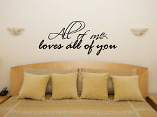 All Of Me Loves All Of You John Legend Music Lyrics Decal Wall Sticker Picture