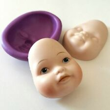 Chubby DOLL FACE Silicone Mould 45 mm HEAD (F) Sugarcraft Fimo Cake Decorate