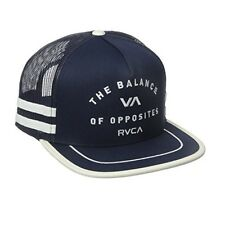 RVCA Challenger Mens Trucker Hat (NEW) Five 5 Panel SNAPBACK CAP ruca NAVY WHITE