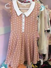 Liz Lisa Pink White Polka Dot Collar Dress OP Japan