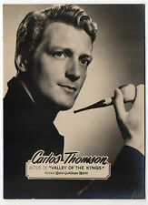 1950s Spanish Rollfilm Film Star Card Valley Of The Kings Actor Carlos Thompson