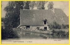 cpa Rare SAINT GEORGES sur BAULCHE Yonne Le MOULIN Animés Meunier et sa Famille