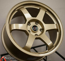 17X8 +44 ROTA GRID 5X114.3 GOLD WHEEL Fits Optima Soul Camry Sienna Prelude