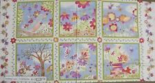 Country Patchwork Quilting Fabric - Butterfly Hollow - Panel 60 x 110cm New