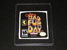 Conkers Bad Fur Day N64 Cartridge Replacement Game Label Sticker Precut