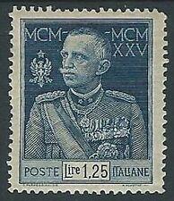 1925-26 REGNO GIUBILEO 1,25 LIRE D. 13 1/2 MH *  - M4-5