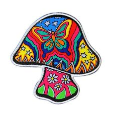 Dan Morris Butterfly Mushroom Patch Psychedelic Hippie Craft Iron-On Applique