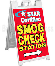 Signicade A-Frame Sign Sidewalk Pavement Sign - STAR CERTIFIED SMOG CHECK