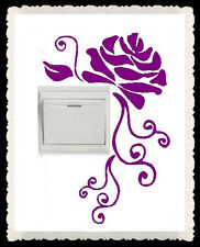 Hand Carving ROSE flower Light Switch Wall NetbookVinyl Stickers UK