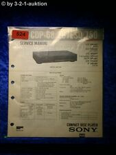 Sony Service Manual CDP 68/ 207ESD / 750 CD Player (#0524)