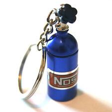 NOS Flasche Nitro Schlüsselanhänger in Blau f. Auto,Tuning Boost Turbolader Fans