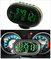 LED Dual Digital 2 Thermometer ℃ ℉ Voltmeter Alarm Clock Gauge Dash Sets Panels