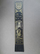 BOOKMARK Leather CHARLES DICKENS 1812 1870 Broadstairs Kent Bleak House Black