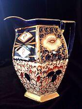 """Imari Gaudy Welsh #1629 Milk Pitcher Hand Painted Bone China 1900 England  8"""""""