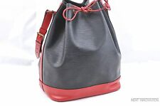 Authentic Louis Vuitton Epi Noe Bi-color Black x Red Shoulder Bag LV 28506
