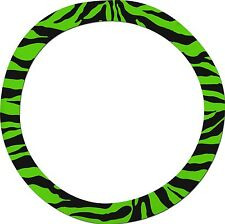Green Zebra Steering Wheel Cover - Like Seat Covers - or Choose Colors