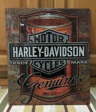 Harley-Davidson Motorcycles Motor Oil Can Metal Bike Helmet Oil Vintage Style 6
