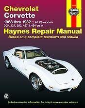 Chevy Corvette Haynes Repair Manual 1968 -1982 NEW Owners Book Service