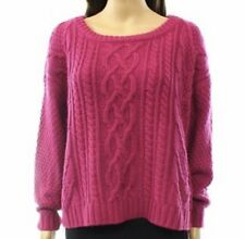 Prestone Preston Women Small Scoop Neck Cable Knit Sweater XS