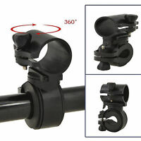 Black Bicycle Bike Cycling Flashlight Torch Lamp Mount Holder Clip Clamp 360°
