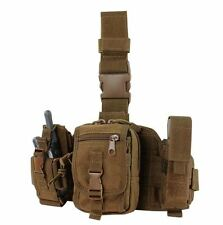 CONDOR MOLLE GP Tactical Utility Drop Leg Rig Pouches ma25-498  COYOTE BROWN
