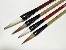 Wolf Goat Hair 4pcs Brushes Chinese Japanese Calligraphy / Sumi-e Painting