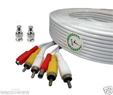 120ft White Audio Video & Power RCA Cable for Lorex Security CCTV Camera