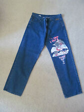 MEN'S HISTORY ICEBERG JEANS PANTS 38x38 LOONEY TUNES SYLVESTER THE CAT