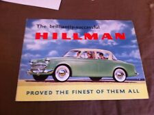 1959 HILLMAN MINX SEDAN AND CONVERTIBLE COLOR BROCHURE  PROSPEKT