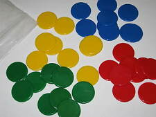 Board Game Spare Counters Colours 20mm 36 Pieces Coin Plastic Pack Tiddlywinks