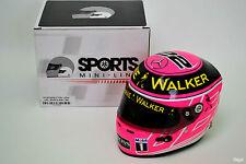 1/2 Jenson Button McLaren 2014 British Grand Prix Helmet Pink F1 Silverstone