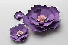 """15 Paper Flowers for Wall Décor,Backdrops, Weddings and Showers decoration 4""""-2"""""""
