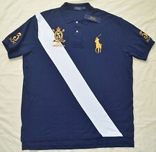 New 2XLT 2XL TALL POLO RALPH LAUREN Men's Big Pony Sash rugby shirt top 2XT gold