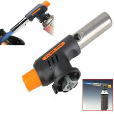 Auto Ignition Flamethrower Burner Butane Gas Torch Camping Welding BBQ Tools
