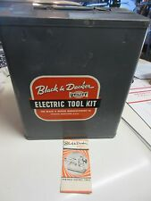 Vintage Black & Decker Electric Home Utility Metal Tool Box Kit Empty Case