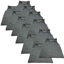 (12) GRAY GREY SCRIMMAGE VESTS PINNIES Soccer, Softball, Track & Field YOUTH