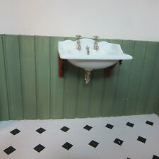 Dolls House Miniature  12th scale   Thomas Crapper Basin    TC DHD