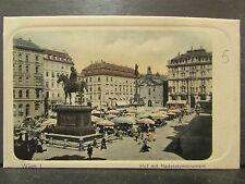cpa autriche austria wien vienne hof mit radetzkymonument marché animee