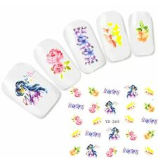 Nagel Sticker Nail Art Aufkleber Japan Manga Blumen Flower Water Decal
