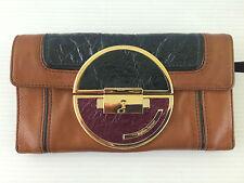 HAYDEN HARNETT Yam Tan BERNARDIN Leather ART DECO Clutch Buckskin WALLET