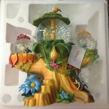 Disney's Tinkerbell FAIRIES TREE HOUSE Musical Rotating Fig. SnowGlobe-MIB