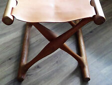 Poul Hundevad Folding Stool Golden Hill Gold Stuhl Danish Design Teak