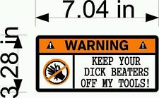 WARNING sticker funny Car bumper stickers laptop tool box decal mechanic tools